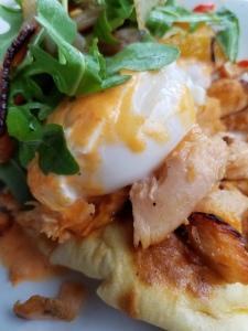 Eggs Benedict on Naan Bread
